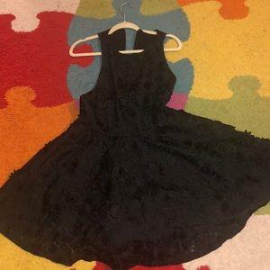 Black racer back skater dress